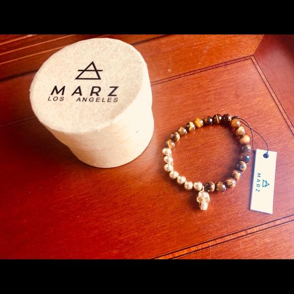 Accessories Marz Los Angelez-marz Men Bracelet Nwtboutique White Silver Men